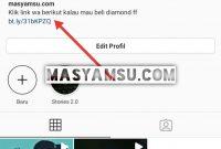 Link WA di Instagram
