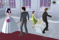 cara menikah di game sakura school
