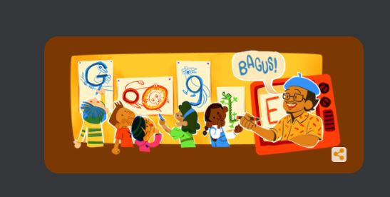 Tino Sidin jadi Google Doodle